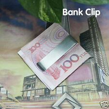 High Quality Stainless Steel Metal Money Clip Gold Silver Cash Holder Wallet -C5