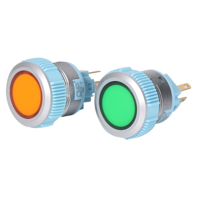 M22-D-Y Switch push-button 1-position 22mm yellow Illumin none IP67