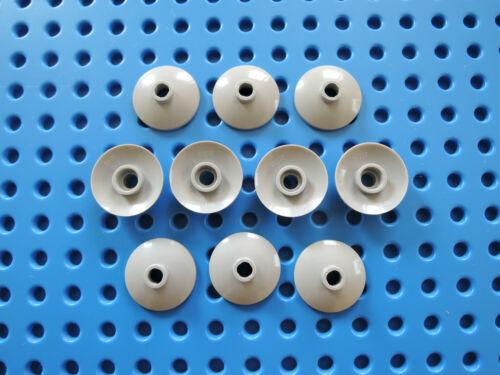 Lego 10 x Satschüssel 4740 neu hellgrau 2x2 Platte rund invers