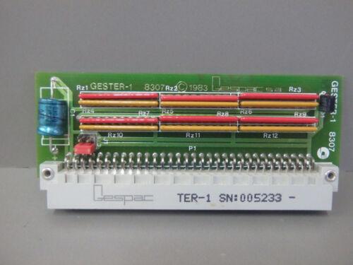 TER-1 Terminateur bus MPU4A  USED GESTER1 GESPAC GESTER-1