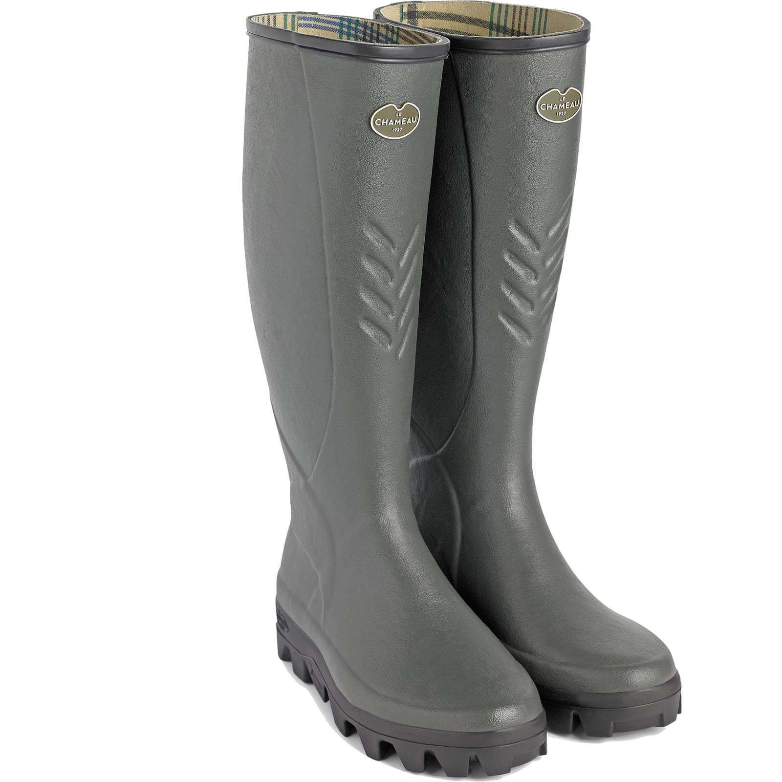 Le Chameau Ceres Jersey Lined Wellingtons - Dark Green - RRP  Our Price