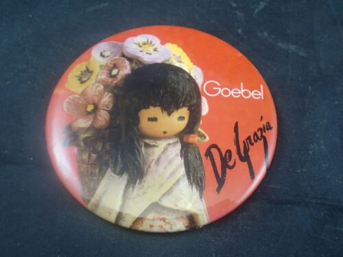 1985 GOEBEL SIGNED AUTOGRAPH PIN BADGE De Grazia