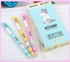 Moomin candy colour cute kawaii kitsch set of 3 refillable erasable gel ink pens
