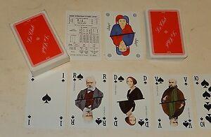 JEU-de-CARTES-Nos-Ecrivains-LE-CLUB-GLM-Complet-54-cartes-marque-BRIDGE