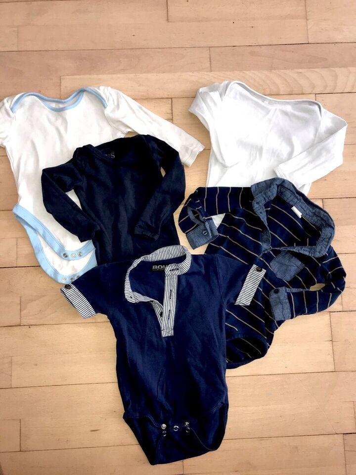 Bodystocking, 74 bodyer bodt mørkeblå hvid stribet ,