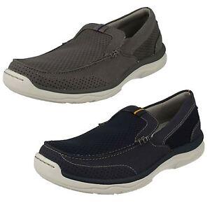 Hombre-CLARKS-NUBE-Steppers-MARUS-Paso-Zapatos-Sin-Cordones-Casuales
