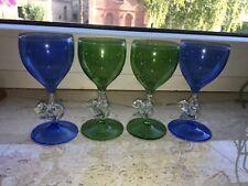 n267 Lauscha Glaskunst Likörglas Tänzerin Aktfigur Frau Dunkel Blau Glas WOW