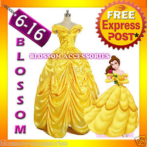 I24-Deluxe-Disney-Belle-Costume-Beauty-The-Beast-Movie-Fancy-Dress-Ball-Gown