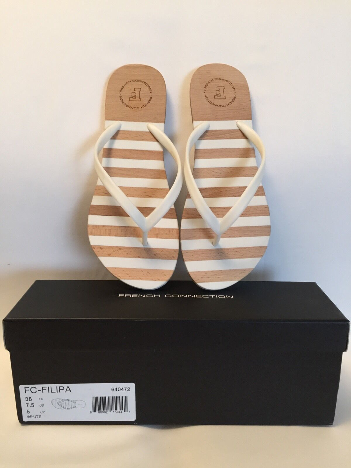 FRENCH CONNECTION Filipa Striped Sandals Size -8