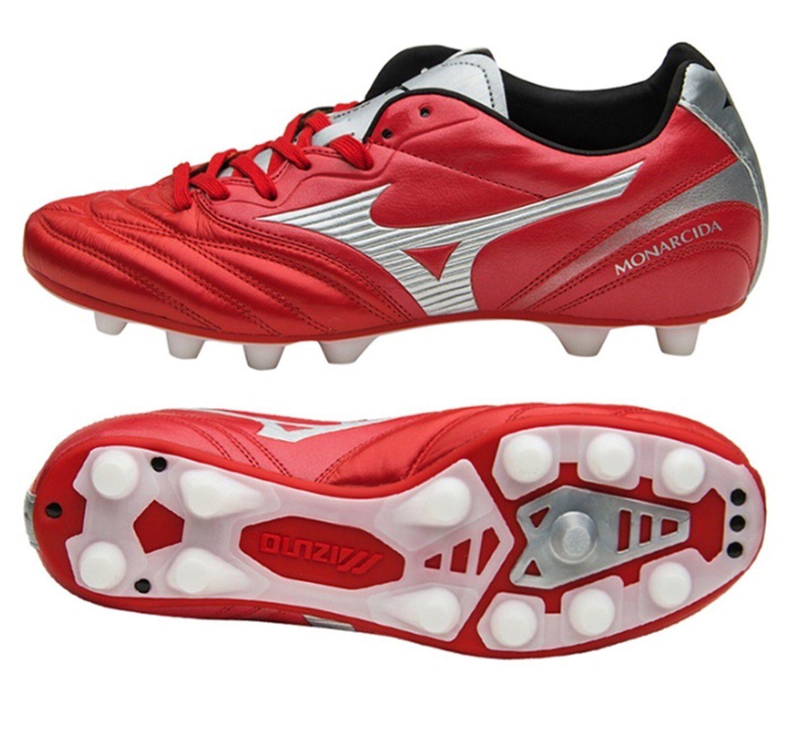 Mizuno Hombre monarcida 2 Japón Botines De Fútbol Rojo Fútbol Zapatos Spike P1GA182162