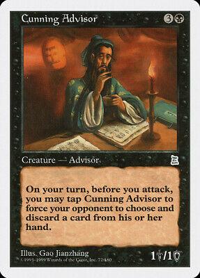 Cunning Advisor Portal Three Kingdoms PLD Black Uncommon MAGIC CARD ABUGames