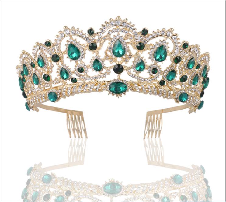 Baroque Retro Prom Wedding Bridal Crystal Flower Bead Tiara Headpiece Hair Crown