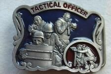 Vtg Belt Buckle C&J Tactical Officer Police SWAT