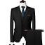 miniature 6 - Mens Suits Sets 3 Pcs Slim Fit Coats Tuxedos Groom Groomsman Formal Work Casual