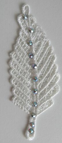 Leaf Lace Applique Stitch On Bridal Dress Motif Diamond Crystal Bead wedding