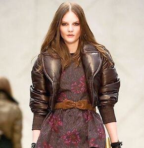 4 995 Runway Burberry Prorsum 4 6 38 Leather Down Bomber Jacket