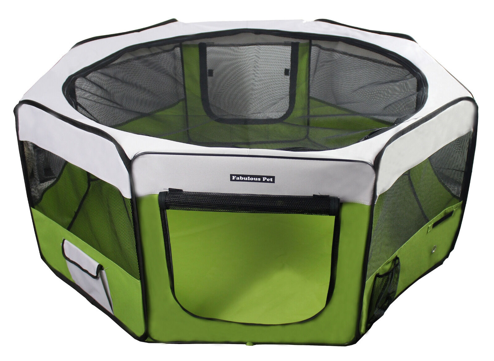 55 Portable Puppy Pet Dog Soft Tent Playpen Folding Crate Pen New  Lime Green