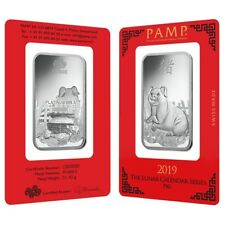 1 oz PAMP Suisse Year of the Pig Platinum Bar (In Assay)