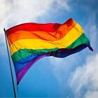 90cm x 150cm Rainbow Flag 3x5 FT Polyester Flag Gay Pride Peace Flags New