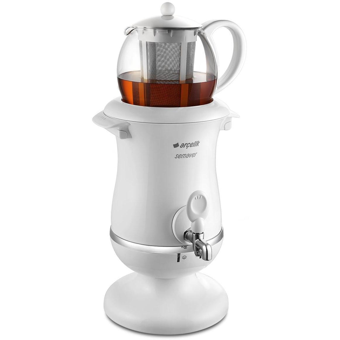 ARCELIK K-3285 C Turkish Glass Tea Pot Maker Semaver Samovar - FIRST QUALITY