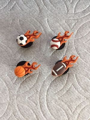 Clog Charms Fit Sandal Wristbands Holey Accessories 4 Sport Balls