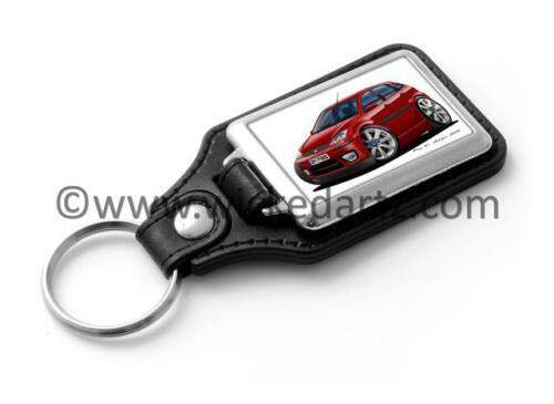 WickedKarz Cartoon Car Ford Focus MK1 Zetec 1997-2004 Dark Red Stylish Key Ring