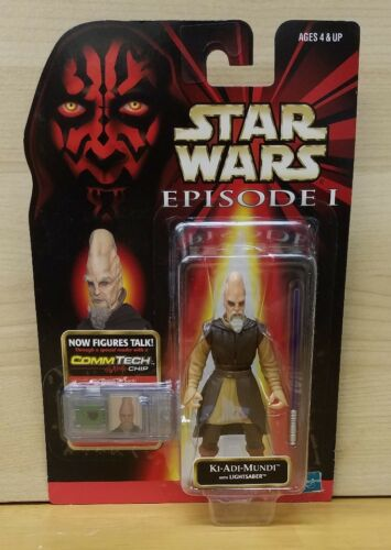 Star Wars EP1 KI-ADI-MUNDI with Lightsaber NIB CommTech 3 3//4 tpm