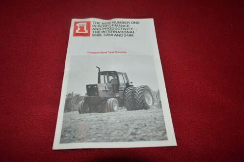 International Harvester 5088 5288 5488 Tractor Dealers Brochure YABE11