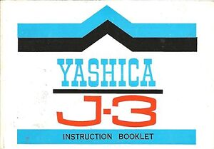 Yashica-J3-Genuine-Instruction-Book-User-Manual-Guide-Instructions
