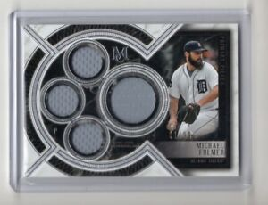 Michael-Fulmer-2018-Topps-Museum-Collection-Quad-Jersey-Relic-039-d-81-99-Tigers