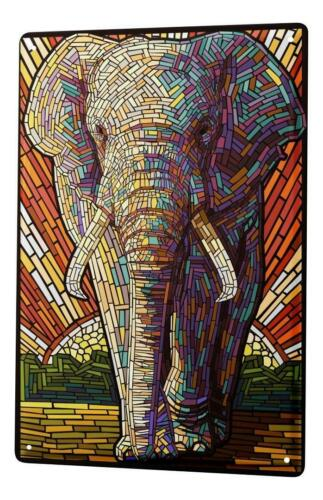 Tin Sign Ravtive Vet Practice Elephant