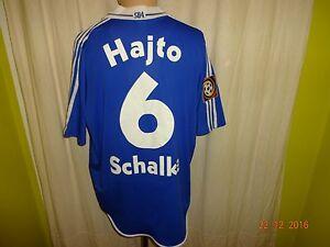 Fc-shalke-04-adidas-matchworn-camiseta-2001-02-034-victoria-034-n-6-hajto-talla-XL-Top