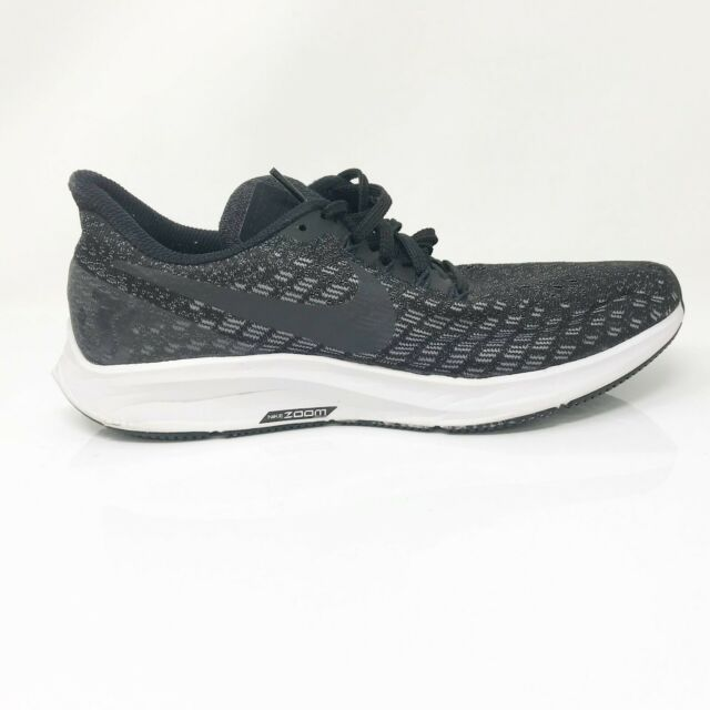 Nike Womens Air Zoom Pegasus 35 942855-003 Black Running Shoes Lace Up Size 8.5