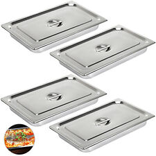 Vevor 4 Pack Full Size 4 Deep Silver Stainless Steel Hotel Steam Table Pans