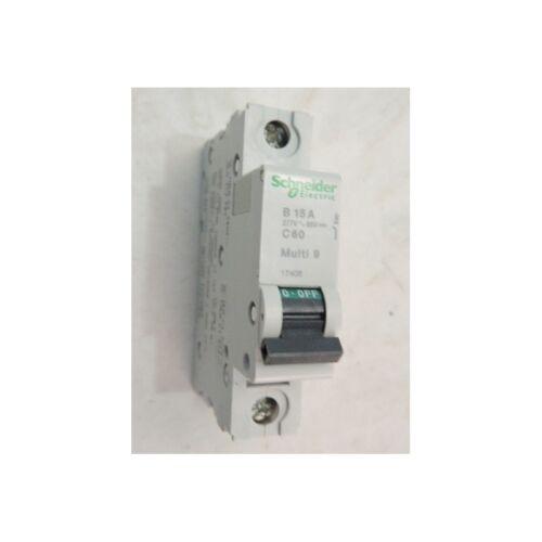 Disjoncteur 15A 1P courbe B 10kA 480Y//277V AC 50//60Hz C60 Multi9 OEM UL1077 SCHN