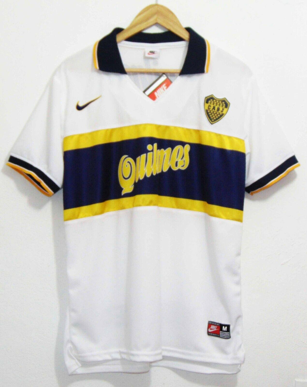 f129ba7ba Boca Juniors 1997 Maradona Away SS Jersey silverina Shirt Napoli Barcelona  Retro