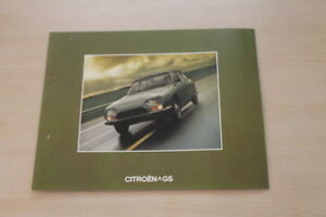 Citroen Gs Prospekt 08/1973 SchöN Und Charmant 178846 Automobilia