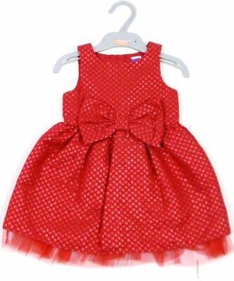 Ex M /& S Girls Navy Blue Spotty Dotty Jersey Dress Age 0 3 6 9 12 18 Months New