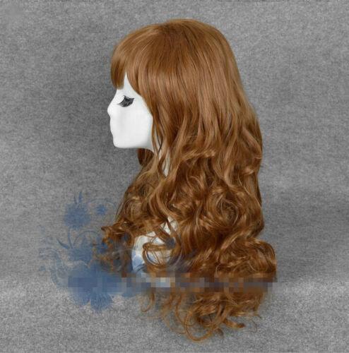 Harry Potter Hermione Granger Cosplay Costume Lang Long Braun Brown Perücke Wig