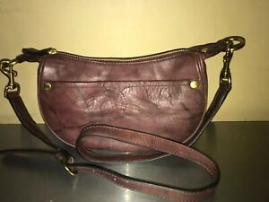 FRYE-Small-CrossBody-Campus-Rivet-LEATHER-SHOULDER-Bag-Reddish-Brown