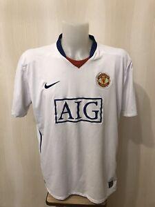 Manchester-United-2008-2009-away-2XL-Nike-shirt-jersey-maillot-football-soccer