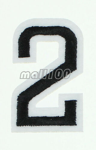 Red Black Numbers 0-9 Patches Sew on Iron on Badge Patches Embroidered Appliques