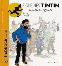 FIGURINE RÉSINE N° 2 COLLECTION TINTIN + PASSEPORT : HADDOCK DUBITATIF
