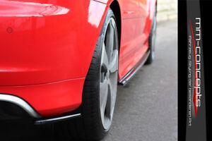 CUP-Diffusor-Seiten-Ansatz-SET-CARBON-fur-Audi-RS3-8PA-11-12-A3-S3-Flap-Heck