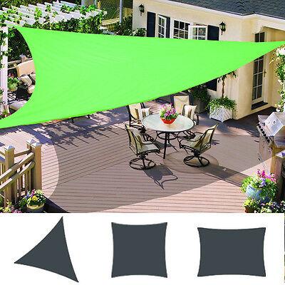 Patio Garden Sun Shade Sail Canopy Awning Sunscreen 98% UV Block Light Green