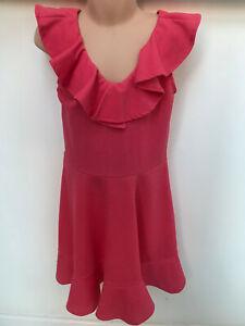 Kindermode, Schuhe & Access. Ex River Island Girls Pink Ruffled Dress Aromatischer Charakter Und Angenehmer Geschmack Kleidung & Accessoires