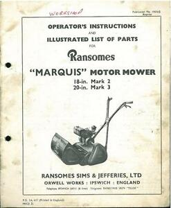 Ransomes Twenty four Manual
