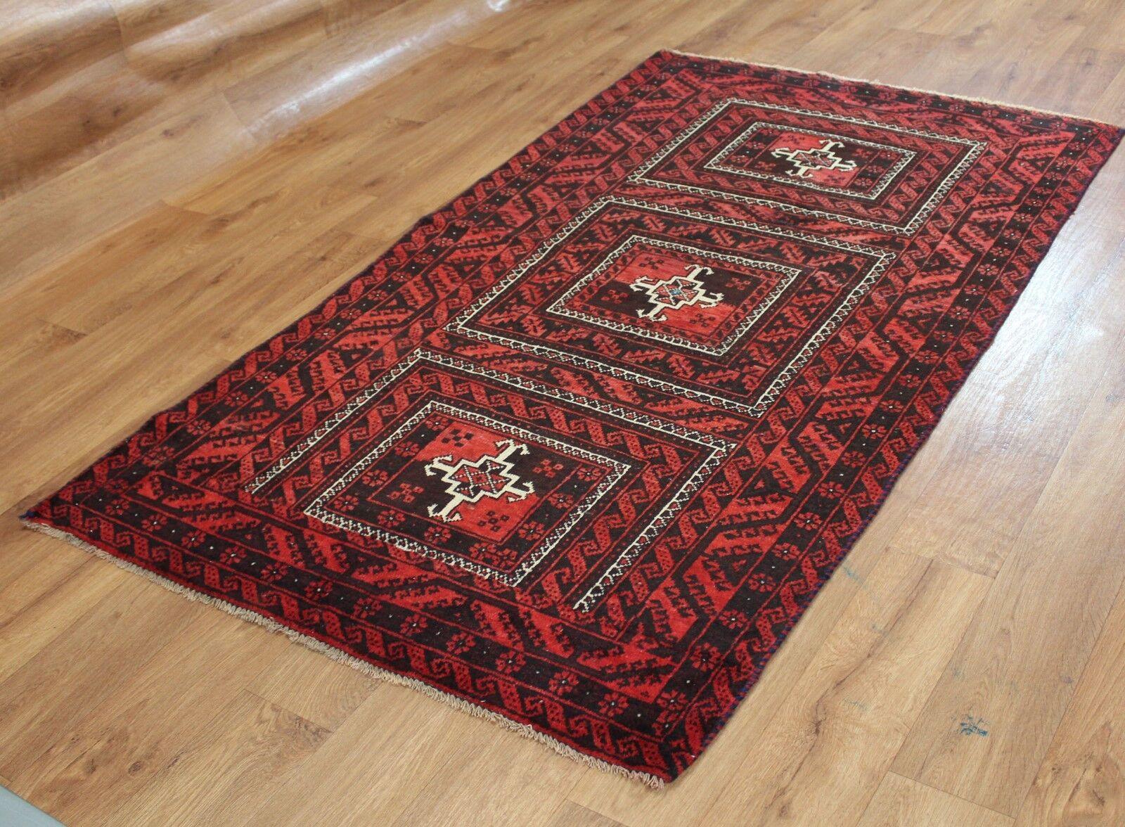 Traditionnel Vintage Laine Fait Main Classique Oriental Oriental Oriental Zone Tapis Moquette 200 x 106 cm | D'ornement  b78844