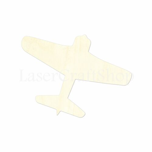 Silhouette Tags Ornaments Laser Cut #1441 Fighter Airplane Wooden Cutout Shape