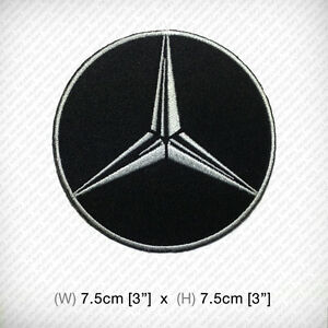 New mercedes benz logo embroidered patch iron on or sew for Mercedes benz iron
